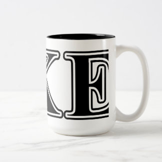 Delta Kappa Epsilon Black Letters Two-Tone Coffee Mug
