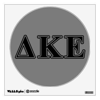 Delta Kappa Epsilon Black Letters Wall Sticker
