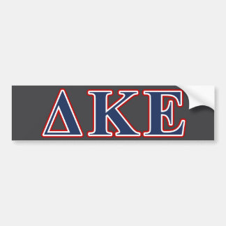 Delta Kappa Epsilon Blue and Red Letters Bumper Sticker