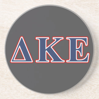 Delta Kappa Epsilon Blue and Red Letters Drink Coaster