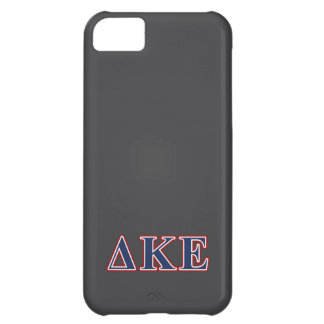 Delta Kappa Epsilon Blue and Red Letters iPhone 5C Covers