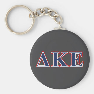 Delta Kappa Epsilon Blue and Red Letters Keychain