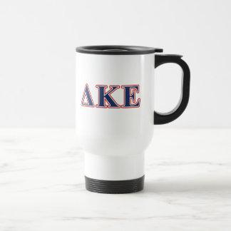 Delta Kappa Epsilon Blue and Red Letters Coffee Mugs