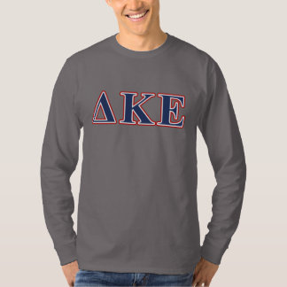 Delta Kappa Epsilon Blue and Red Letters T-Shirt