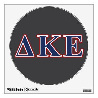 Delta Kappa Epsilon Blue and Red Letters Wall Sticker
