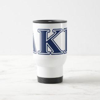 Delta Kappa Epsilon Blue Letters Coffee Mugs