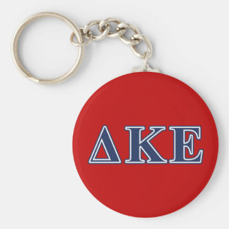 Delta Kappa Epsilon Blue Letters Keychain