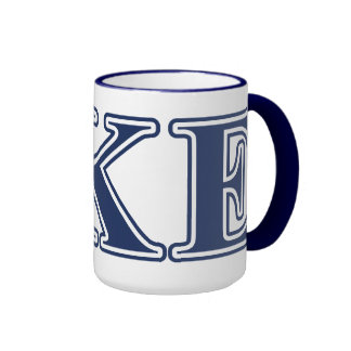 Delta Kappa Epsilon Blue Letters Mugs