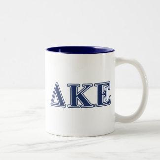 Delta Kappa Epsilon Blue Letters Two-Tone Coffee Mug