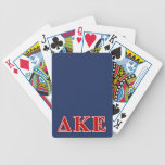Delta Kappa Epsilon Red Letters Bicycle Playing Cards