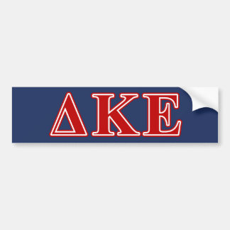 Delta Kappa Epsilon Red Letters Bumper Sticker