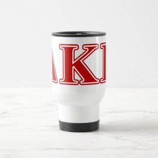 Delta Kappa Epsilon Red Letters Coffee Mugs