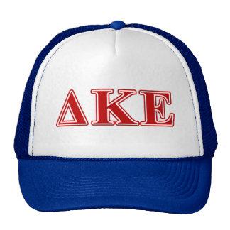 Delta Kappa Epsilon Red Letters Trucker Hats