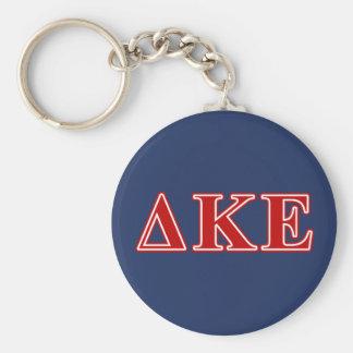 Delta Kappa Epsilon Red Letters Keychain