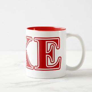 Delta Kappa Epsilon Red Letters Mug