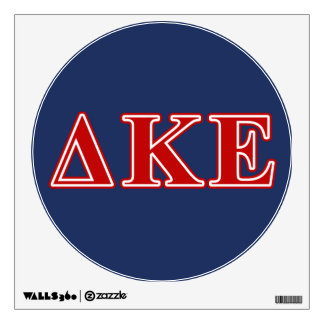 Delta Kappa Epsilon Red Letters Wall Sticker