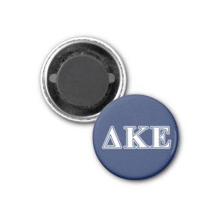 Delta Kappa Epsilon White and Blue Letters Magnet