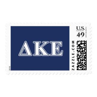 Delta Kappa Epsilon White and Blue Letters Postage