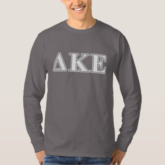 Delta Kappa Epsilon White and Blue Letters T-Shirt