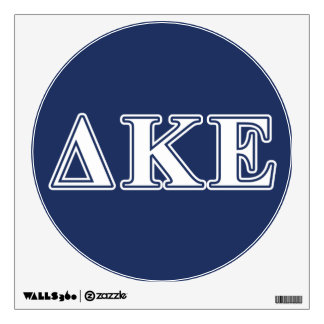 Delta Kappa Epsilon White and Blue Letters Wall Sticker