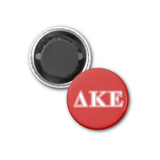 Delta Kappa Epsilon White and Red Letters Magnet