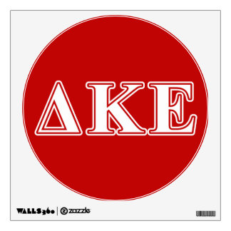 Delta Kappa Epsilon White and Red Letters Wall Decal