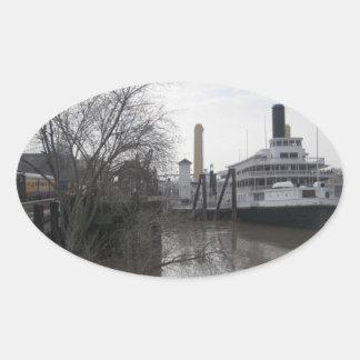 Delta King Oval Sticker