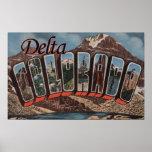 Delta, letra ScenesDelta, CO de ColoradoLarge Posters