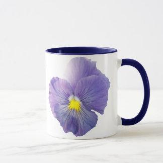 Delta Light Blue Pansy Mug