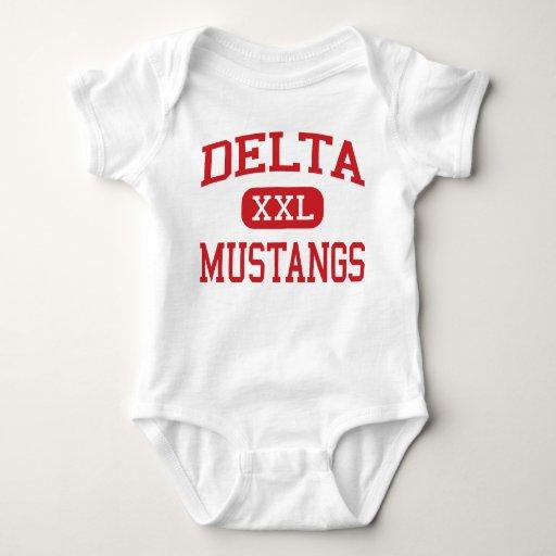 Delta - mustangos - alto - colorete Luisiana de Mameluco De Bebé