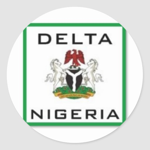 Delta, Nigeria Classic Round Sticker