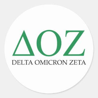 Delta Omicron Zeta Logo Classic Round Sticker