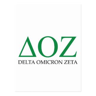 Delta Omicron Zeta Logo Postcard
