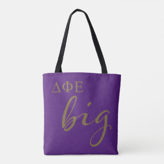 Delta Phi Epsilon Big Script Tote Bag