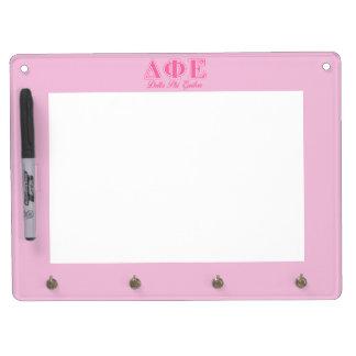 Delta Phi Epsilon Pink Letters Dry Erase Whiteboard