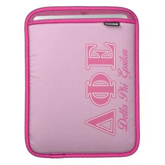 Delta Phi Epsilon Pink Letters iPad Sleeve