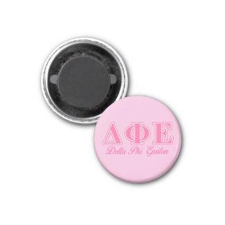 Delta Phi Epsilon Pink Letters Magnet