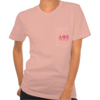 Delta Phi Epsilon Pink Letters Tees