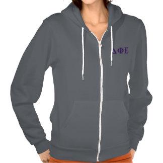 Delta Phi Epsilon Purple and Lavender Letters Hoody