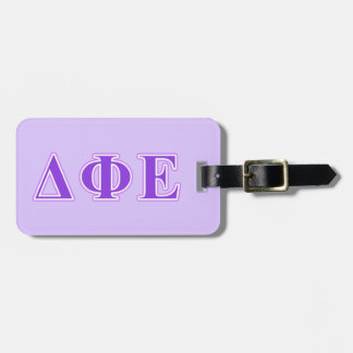 Delta Phi Epsilon Purple and Lavender Letters Tags For Luggage