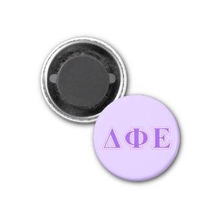 Delta Phi Epsilon Purple and Lavender Letters 1 Inch Round Magnet