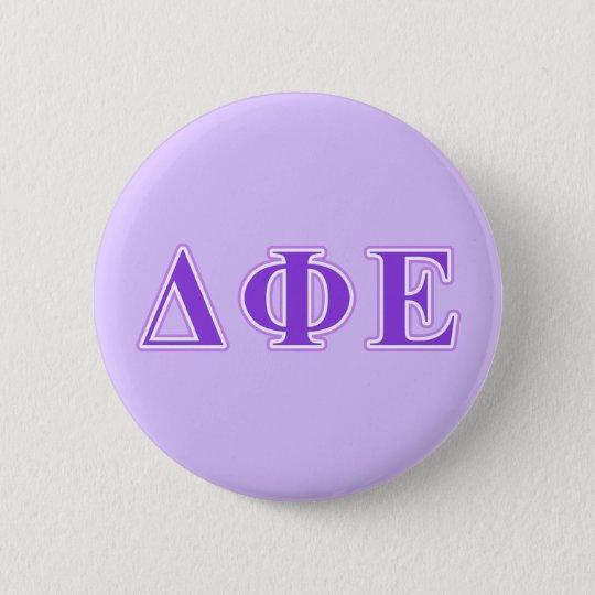 Delta Phi Epsilon Purple and Lavender Letters Pinback Button | Zazzle.com
