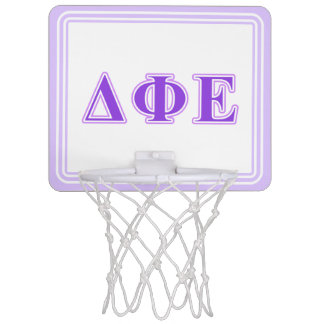 Delta Phi Epsilon Purple and Lavender Letters Mini Basketball Hoops