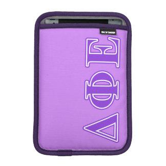 Delta Phi Epsilon Purple Letters iPad Mini Sleeves