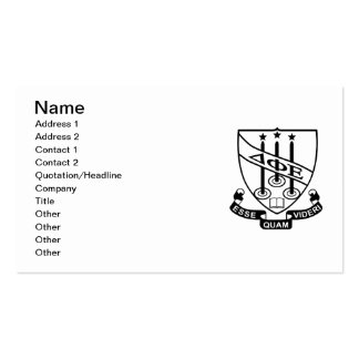 Delta Phi Epsilon Shield Double-Sided Standard Business Cards (Pack Of 100)