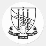Delta Phi Epsilon Shield Classic Round Sticker