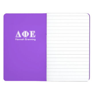 Delta Phi Epsilon White and Purple Letters Journal