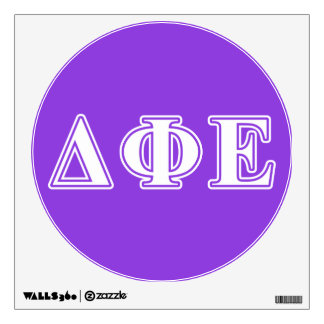 Delta Phi Epsilon White and Purple Letters Wall Decal
