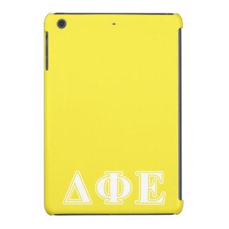 Delta Phi Epsilon White and Yellow Letters iPad Mini Covers