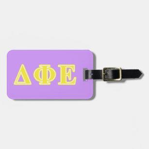 Delta Phi Epsilon Yellow Letters Bag Tag